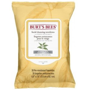 Burts Bees Facial Cleansing Towelettes with White Tea Extract