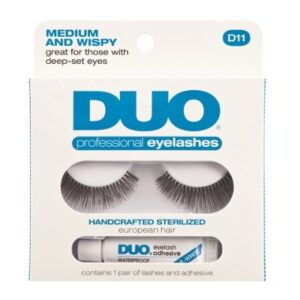 DUO Professional Eyelashes D11 - Medium and Wispy
