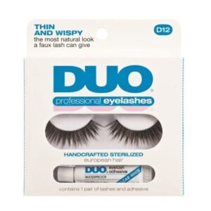 DUO Professional Eyelashes D12 - Thin and Wispy