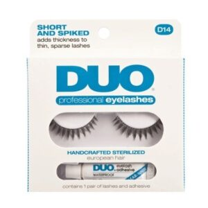 DUO Professional Eyelashes D14 - Short and Spiked