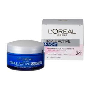 LOreal Triple Active Nachtcreme Normale Huid